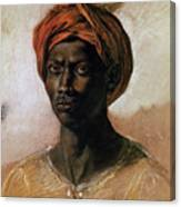 Portrait Of A Turk In A Turban Canvas Print