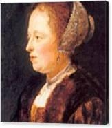 Portrait Of A Woman 1640 Canvas Print