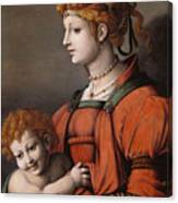 Portrait Of A Woman And Child - Allegory Of Liberality Canvas Print