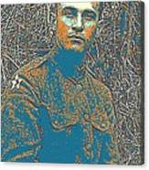 Portrait Of A Young  Wwi Soldier Series 16 Canvas Print