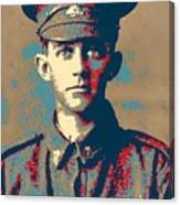 Portrait Of A Young  Wwi Soldier Series 19 Canvas Print