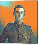 Portrait Of A Young  Wwi Soldier Series 6 Canvas Print