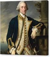 Portrait Of Admiral Sir Hugh Palliser 1st Bart Canvas Print