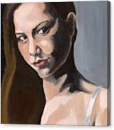 Portrait Of Amanda Canvas Print
