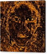 Portrait Of An Ancient Woman Canvas Print
