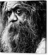 Portrait of an Australian aborigine Canvas Print