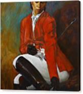 Portrait Of An Equestrian Canvas Print