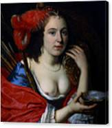 Portrait Of Anna Du Pire As Granida Canvas Print