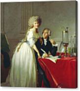 Portrait Of Antoine-laurent Lavoisier And His Wife Canvas Print