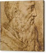 Portrait Of Baccio Bandinelli In Profile To The Right Canvas Print