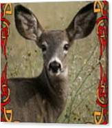 Portrait Of Bambi Canvas Print