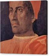 Portrait Of Cardinal Carlo De Medici 1466 Canvas Print