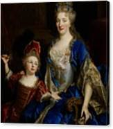 Portrait Of Catherine Coustard Canvas Print