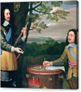 Portrait Of Charles I And Sir Edward Walker Canvas Print