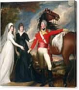 Portrait Of Colonel Fitch And His Sisters Canvas Print