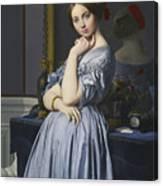 Portrait Of Comtesse D'haussonville Canvas Print
