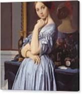 Portrait Of Countess D Haussonville Canvas Print