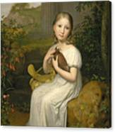 Portrait Of Countess Louise Bose As A Child Canvas Print