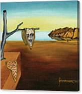 Portrait Of Dali The Persistence Of Memory Canvas Print