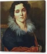 Portrait Of Darya Nikolaevna Chvostova 1814 Canvas Print