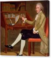 Portrait Of David Baldwin 1790 Canvas Print