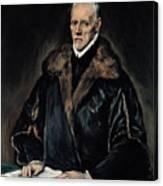 Portrait Of Dr. Francisco De Pisa Canvas Print
