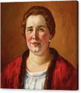 Portrait Of Ekaterina Ivanovna Kogan Canvas Print