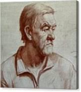 Portrait Of Elderly Man Canvas Print