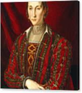 Portrait Of Eleanora Di Toledo Canvas Print