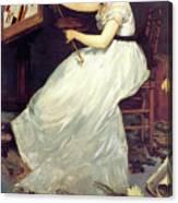 Portrait Of Eva Gonzales 1870 Canvas Print