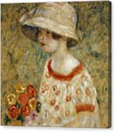 Portrait Of Frances Kilmer Canvas Print
