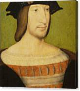 Portrait Of Francis I, King Of France Canvas Print