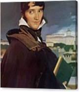 Portrait Of Francois Marius Granet Canvas Print