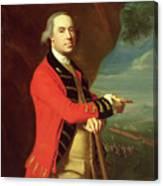 Portrait Of General Thomas Gage Canvas Print