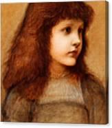Portrait Of Gertie Lewis Canvas Print