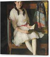 Portrait Of Gertrude Russell Canvas Print