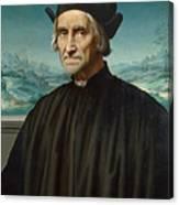 Portrait Of Girolamo Benivieni Canvas Print