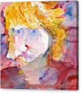Portrait Of Graham Canvas Print