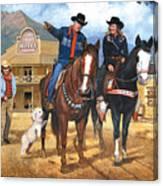 Portrait Of Harry And Pat Bernstein Canvas Print