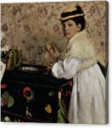 Portrait Of Hortense Valpincon As A Child Canvas Print