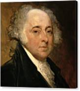 Portrait Of John Adams Canvas Print