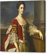 Portrait Of Lady Elizabeth Compton Later Countess Of Burlington Canvas Print