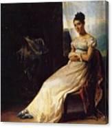Portrait Of Laura Bro 1820 Canvas Print