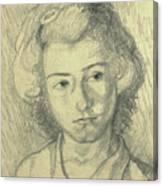 Portrait Of Lenore Canvas Print