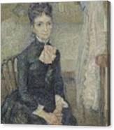 Portrait Of Leonie Rose Charbuy-davy Paris  March  April 1887 Vincent Van Gogh 1853  1890 Canvas Print
