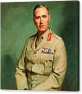 Portrait Of Lieutenant - General The Honorable Sir Edmund Herring Canvas Print