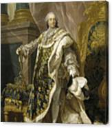 Portrait Of Louis Xv Of France Canvas Print