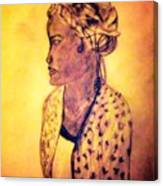 Portrait Of Lovely African Woman Canvas Print