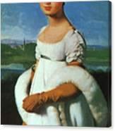 Portrait Of Mademoiselle Riviae 1805 Canvas Print