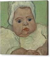 Portrait Of Marcelle Roulin Arles, December 1888 Vincent Van Gogh 1853  1890 Canvas Print